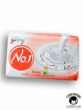 GODREJ NO.1 KESAR MILK CREAM SOAP 100G
