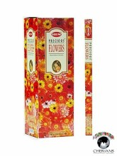 HEM PRECIOUS FLOWERS INCENSE (6 PACKS OF 20 STICKS)