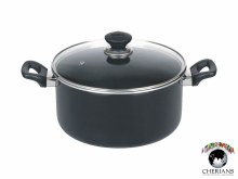 KITCHEN KING IMPERIAL CASEEROLE WITH GLASS LID 23CM/4.4L