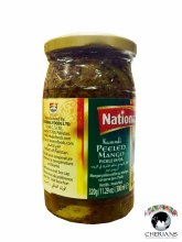 NATIONAL KASUNDI PEELED MANGO PICKLE IN OIL 320G