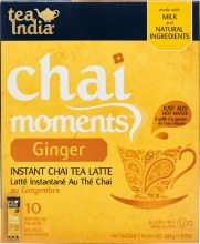 TEA INDIA CHAI MOMENTS LATTE MIX GINGER 10 PACKETS/ 224G