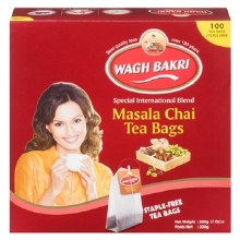 WAGH BAKRI MASALA CHAI 100 TEA BAGS/200G