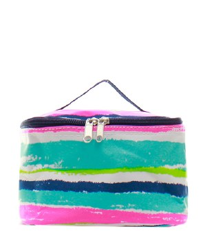 Striped Cosmetic Case