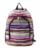 Striped Backpack