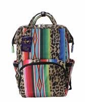 Leopard Serape Diaper Backpack