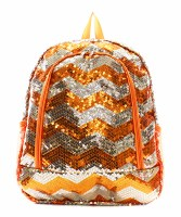 Chevron Sequin Backpack