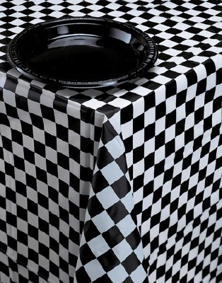 Plastic Check Tablecover