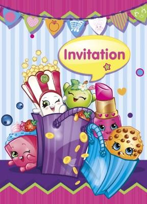 Shopkins Invitations