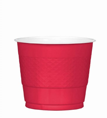Red 9oz Plastic Cups