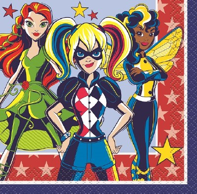 Dc Super Hero Girl Bev Napkins