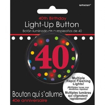 40th Flashing Button