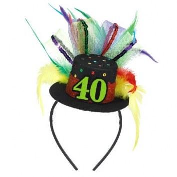 40th Fascinator Headband