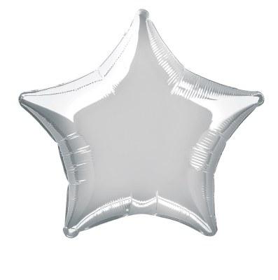 Star Foil Silver Chrom