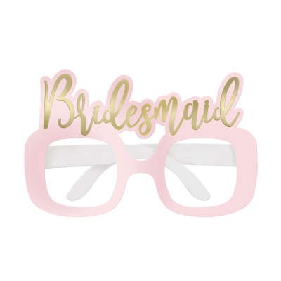 Bridemaid Foil Party Glasses