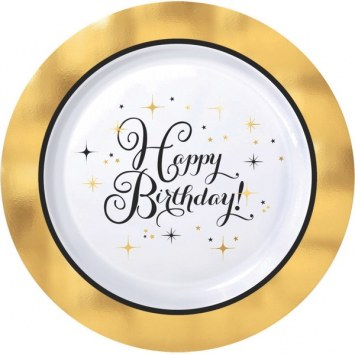 Plastic Birthday Dessert Plate