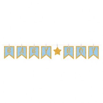 Baby Boy Clothespin Banner