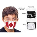 Masks Fabric Canada Flag Kids