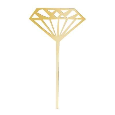 Diamond Gold Cupcake Toppers