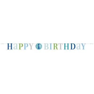 1st Boy Birthday Banner