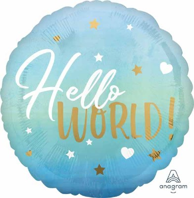 Hello World Blues 18in Foil