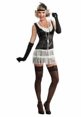 Black Sequin Flapper Dress