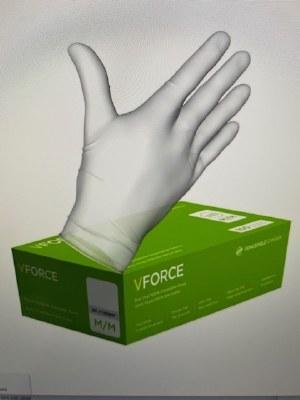Gloves Vinyl 100ct Large