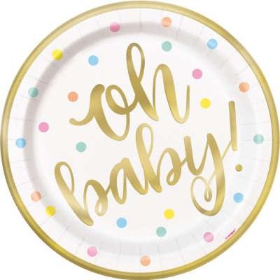 Oh Baby Gold Dessert Plates