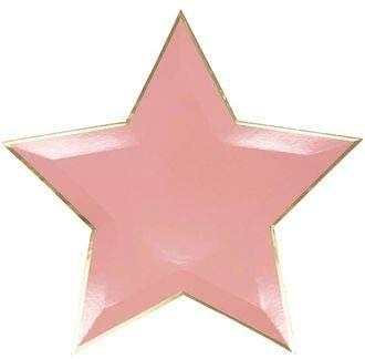 Star Shape Pink Plates