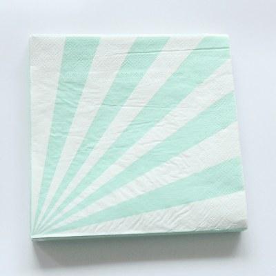 Stripe Mint Lunch Napkins