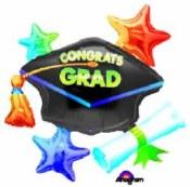 Grad Cluster Foil Balloon
