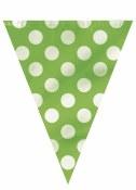 Polka Dot Flag Banner Lime