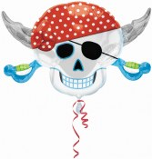 Pirate Skull Supershape Foil