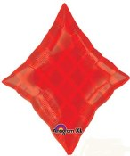 Red Diamond Foil Balloon