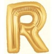 Letter R 40in Gold Foil