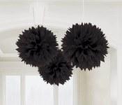 Fluffy Decor Balls Black