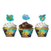 Ocean Cupcake Wrapper W Pick