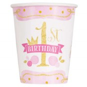1st Bday Pink/gold Cups