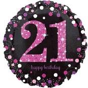 21st Sparkling Birthday Foil