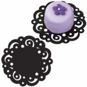 Doilies 4in Black