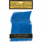Royal Blue Plastic Forks