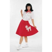 Poodle Skirt Red