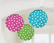 Lanterns 9.5in Polka Dot