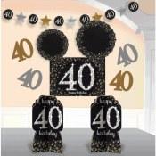 40th Sparkling Room Decor Kit