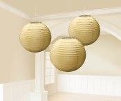 Lanterns 9.5in Gold