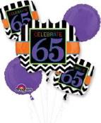 65th Chevron Foil Balloon