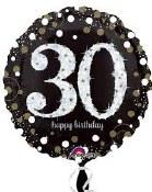 30th Polka Dot Birthday Foil