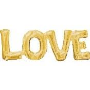 Love Gold Air Filled Balloon