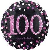 100th Sparkling Foil Balloon