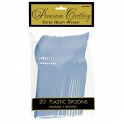 Pastel Blue Plastic Spoons