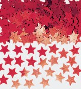 Star Confetti Red